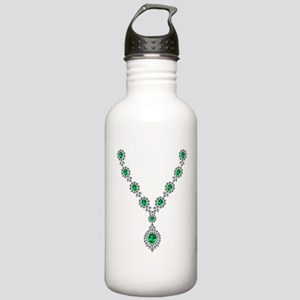 Narrow Emerald Necklac Stainless Water Bottle 1.0L