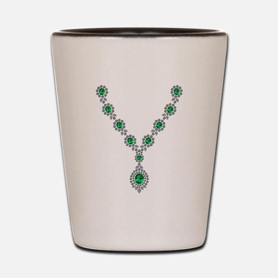 Narrow Emerald Necklace Shot Glass