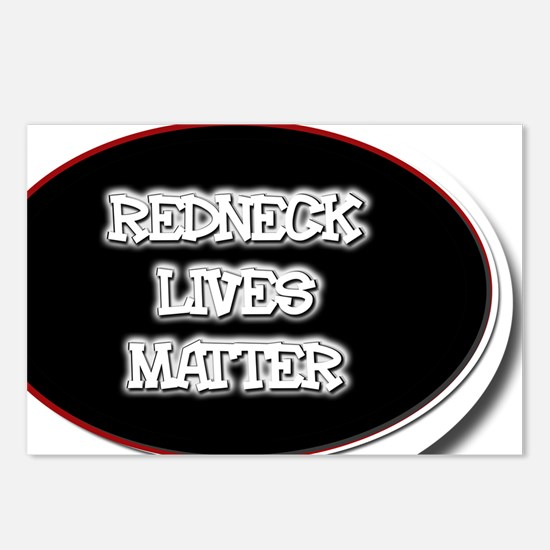 Black and White Rednecks  Postcards (Package of 8)
