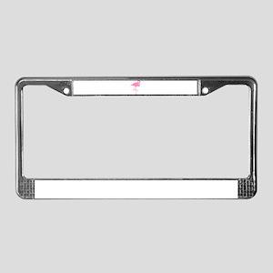flamingo-hi License Plate Frame