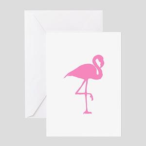 flamingo-hi Greeting Cards