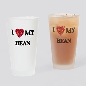 I Love MY Bean Drinking Glass