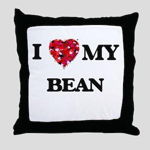 I Love MY Bean Throw Pillow