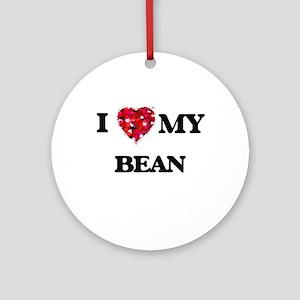 I Love MY Bean Ornament (Round)