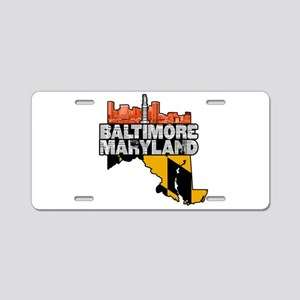 Baltimore Maryland Skyline State Aluminum License