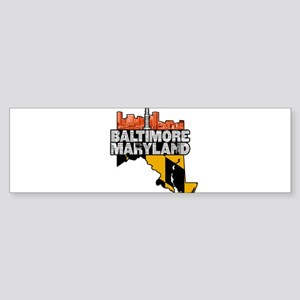 Baltimore Maryland Skyline State Bumper Sticker