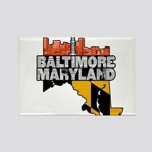 Baltimore Maryland Skyline State Magnets