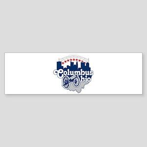 Columbus Ohio Skyline Cannon Bumper Sticker