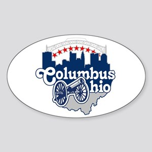 Columbus Ohio Skyline Cannon Sticker