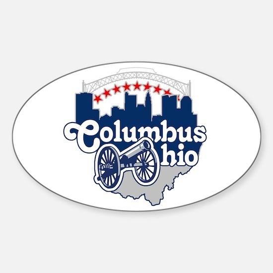 Columbus Ohio Skyline Cannon Decal