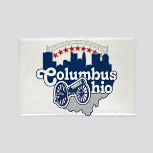 Columbus Ohio Skyline Cannon Magnets