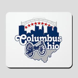 Columbus Ohio Skyline Cannon Mousepad