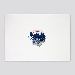 Columbus Ohio Skyline Cannon 5'x7'Area Rug