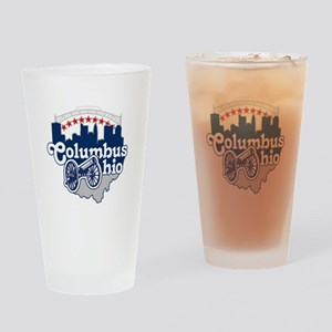 Columbus Ohio Skyline Cannon Drinking Glass
