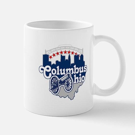 Columbus Ohio Skyline Cannon Mugs