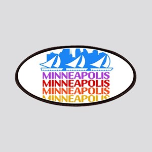 Minneapolis Skyline Rainbow Colors Patch