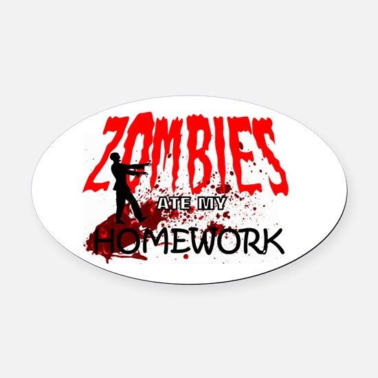 Zombie Merchandise Oval Car Magnet