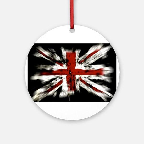 British Flag Union Jack Ornament (Round)