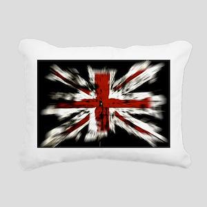 British Flag Union Jack Rectangular Canvas Pillow