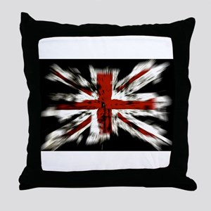 British Flag Union Jack Throw Pillow