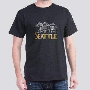 Seattle Skyline Clouds Sky T-Shirt
