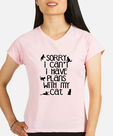 Sorry Plans With The Cat Performance Dry T-Shirt