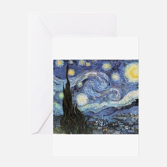 Starry Night Vincent Van Gogh Greeting Cards