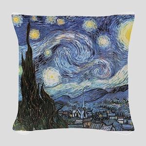 Starry Night Vincent Van Gogh Woven Throw Pillow