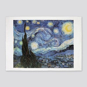 Starry Night Vincent Van Gogh 5'x7'Area Rug