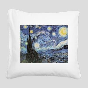 Starry Night Vincent Van Gogh Square Canvas Pillow