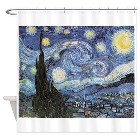 Starry Night Vincent Van Gogh Shower Curtain