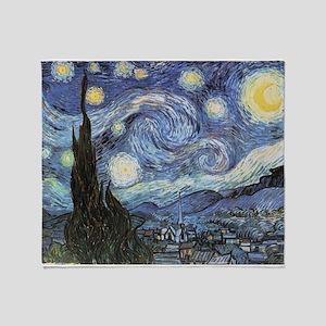 Starry Night Vincent Van Gogh Throw Blanket