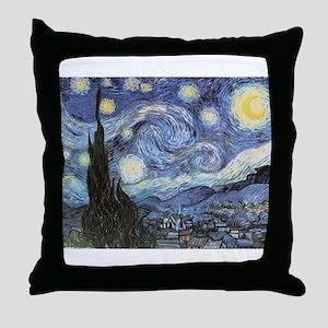 Starry Night Vincent Van Gogh Throw Pillow