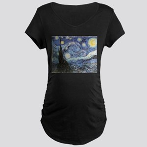 Starry Night Vincent Van Gogh Maternity T-Shirt