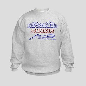 Roller Coaster Junkie Kids Sweatshirt