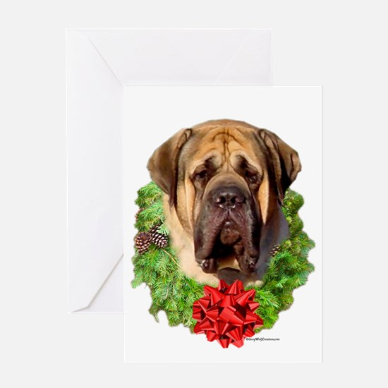 Fawn Wreath1 Greeting Card