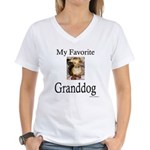 My Favorite Granddog Women's V-Neck T-Shirt