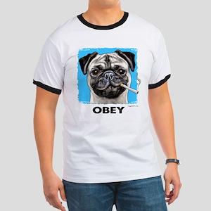 Obey Pug Ringer T