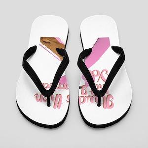 breast cancer, survivor Flip Flops