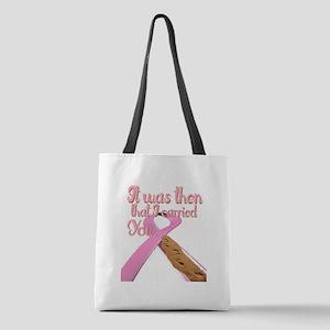 breast cancer, survivor Polyester Tote Bag
