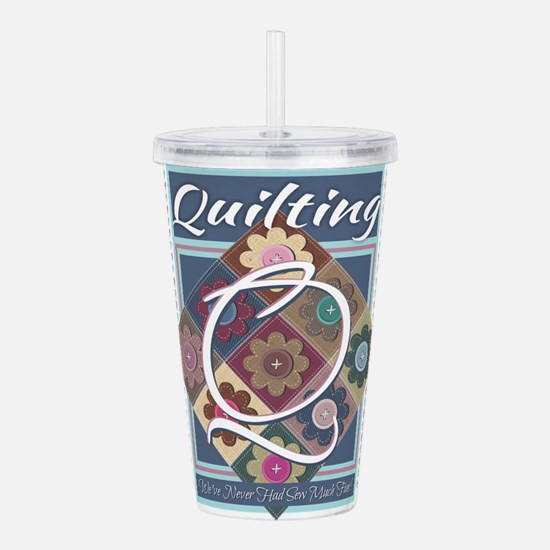 Cute Quilter mom Acrylic Double-wall Tumbler