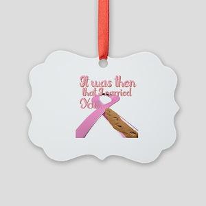 breast cancer, survivor Picture Ornament
