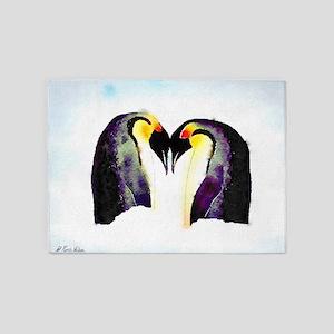 Penguin Love 5'x7'Area Rug