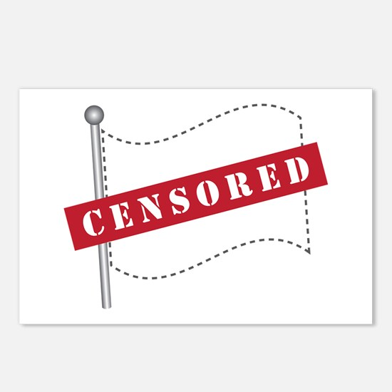 Censored Flag Postcards (Package of 8)