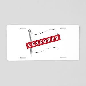 Censored Flag Aluminum License Plate