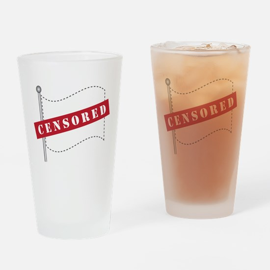Censored Flag Drinking Glass