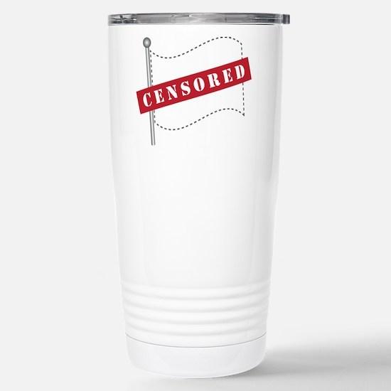 Censored Flag Stainless Steel Travel Mug