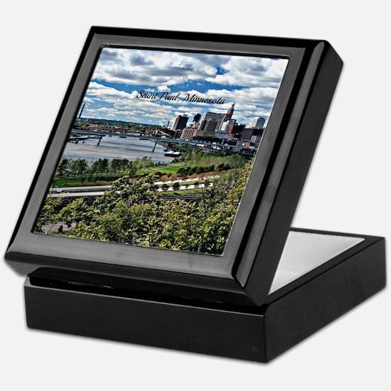 Saint Paul, Minnesota Keepsake Box