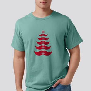 red mustache Christmas tree T-Shirt