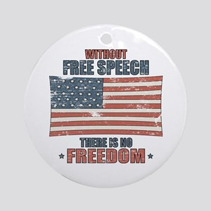 Free Speech Ornament (Round)